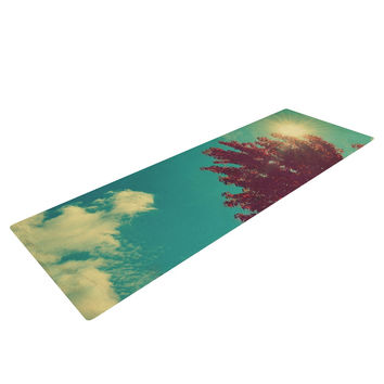 "Robin Dickinson ""Change is Beautiful"" Teal Red Yoga Mat"