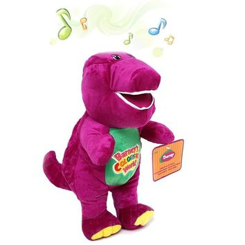 Singing Barney Plush Stuffed Doll Dinosaur 30cm/42cm Christmas Gift for Children