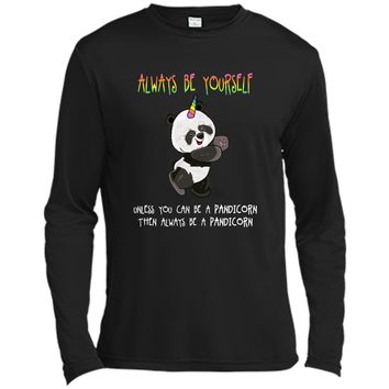 Cute Funny Always Be Yourself Unless You Can be a Pandicorn Long Sleeve Moisture Absorbing Shirt