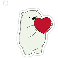 'We Bare Bears Ice Bear' Sticker by JUBYEE