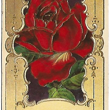 "Antique Postcard ""Remember Me"" Design Copyrighted Only 1912 by Heymann Rose in Gold Gild Frame"