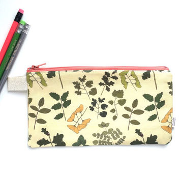 Field Guide to Trees II Divided Pencil Case (handmade philosophy's pattern)
