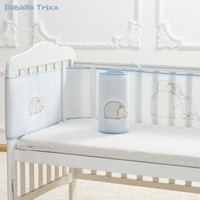 Newborn Baby Bed Bumper Breathable Bedding Mesh Kids Bed Crib Nursery Safety Baby Head Protector Baby Stuff for Spring Summer