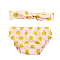 Pink & Gold Polka Dot Take Home Outfit | Bloomers & Knotted Headband