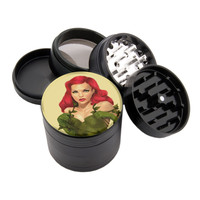 "Red Head Design - 2.25"" Premium Black Herb Grinder - Custom Designed"