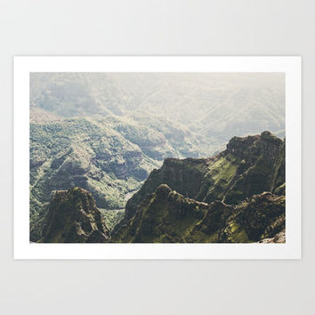 Hawaii Green Art Print by Kurt Rahn
