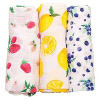 Little Unicorn Cotton Muslin Swaddle 3pk - Berry Lemonade