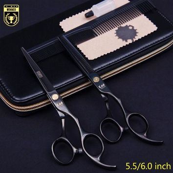 DCCKL72 5.5/6.0 Kasho Professional hair scissors hairdressing scissors barber scissors hair cutting shears thinning hairdresser 2pcs set