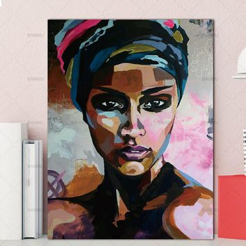 poster and prints canvas painting figure Picture wall art  Picture portrait  home decor painting abstract  women picuture art