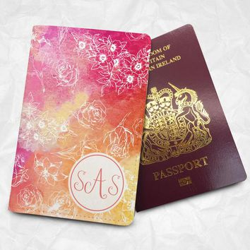 Colourful Custom Name Passport Cover Passport Holder with FREE Name Printing (BBS034)