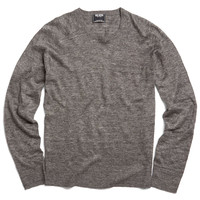 Lightweight Linen Sweater in Charcoal Heather