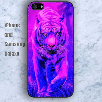 Tiger colorful iPhone 5/5S Ipod touch Silicone Rubber Case, Phone cover