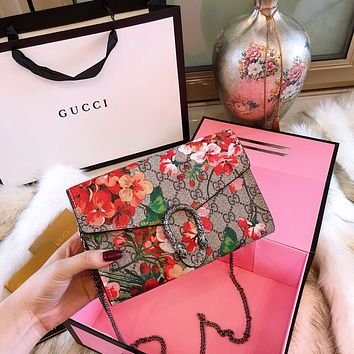 GUCCI Dionysus GG Blooms Supreme chain wallet