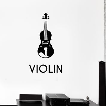 Vinyl Decal Music Violin Musical Instrument Decor Wall Stickers Unique Gift (ig2628)
