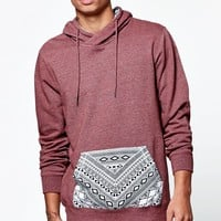 On The Byas Tribal Panel Hoodie - Mens Hoodies - Red
