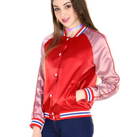 PIPING HOT VARSITY JACKET