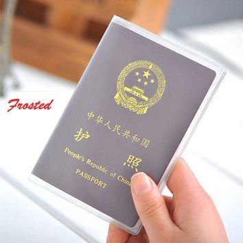 size 9x 13.1cm silicone transparent waterproof dirt ID Card holders passport cover business card credit card bank card holders