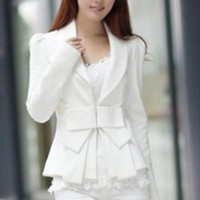 white blazer jacket spring elegant bow final sale g773 from YRB