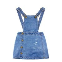 Denim Skirt Overalls