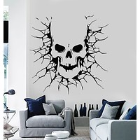 Vinyl Wall Decal Skull Zombie Demon Scary Horror Death Stickers Mural (g3106)