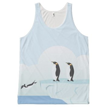 Penguins All-Over Print Tank Top