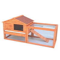 Pawhut Outdoor Guinea Rabbit Hutch Habitat Pig Pet House | Wayfair