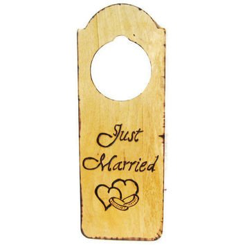 RUSTIC Wedding door knob hanger Unique wedding by KnottyNotions