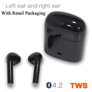 TWS Dual Wireless Bluetooth Earbud Headset In-Ear Earphone for Apple iPhone X 8