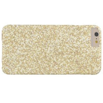 Cool Light Gold Glitter Barely There iPhone 6 Plus Case