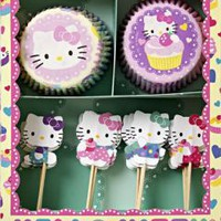 HELLO KITTY PARTY SUPPLIES, HELLO KITTY CUPCAKE KIT, MERI MERI NEW