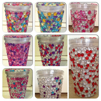 Rhinestone Tumbler by samantharburt on Etsy