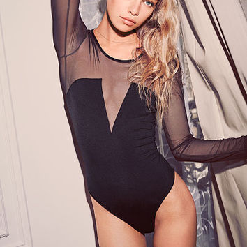 Mesh-sleeve Bodysuit - Very Sexy - Victoria's Secret