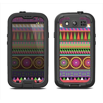 The Retro Colored Modern Aztec Pattern V63 Samsung Galaxy S3 LifeProof Fre Case Skin Set