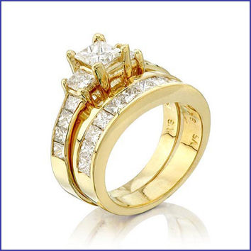 Gregorio 18K Yellow Diamond Engagement Ring and Band  OMI-D-2