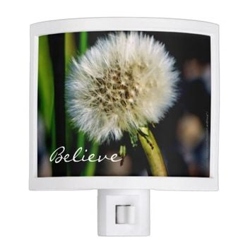 """Make a Wish"", Believe Dandelion Night Light"