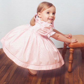 """Shirley Temple Inspired Vintage-esque """"Baby Doll"""" dress in newborn-toddler sizes"""