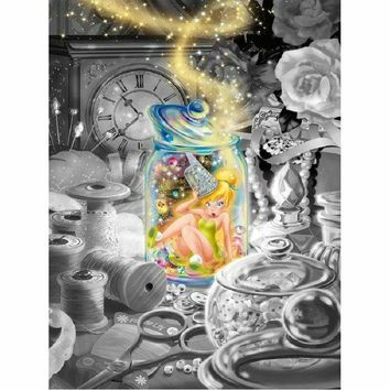5D Diamond Painting Tinkerbell in a Jar Kit