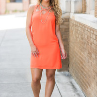 Coastal Dreams Dress, Neon Orange