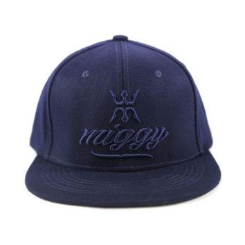ESBON MLB Detroit Tigers Miggy Wear Navy Tonal Urban Fitted Hat
