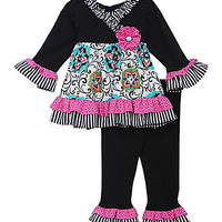 Rare Editions 12-24 Months Dress & Leggings Set - Black