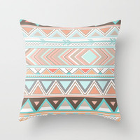 Tribal Wonder  Throw Pillow by Sunkissed Laughter