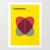 Existentialism Art Print by Genis Carreras