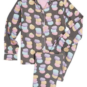 PJ Salvage 'Macaroon Madness' Two-Piece Pajamas (Little Girls & Big Girls) | Nordstrom