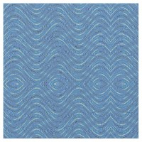 Blue White Wavy design Fabric