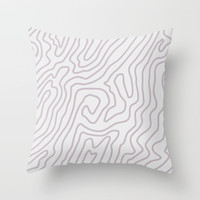 Abstract landscape Throw Pillow by printapix
