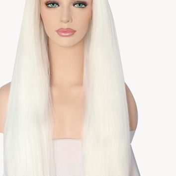 Crystin- Lace Front Yaki Straight Heat Resistant Synthetic Hair