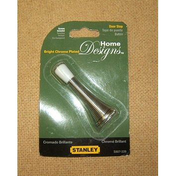 Stanley S807-339 3in Spring Door Stop Bright Chrome Plated V8023 -- New