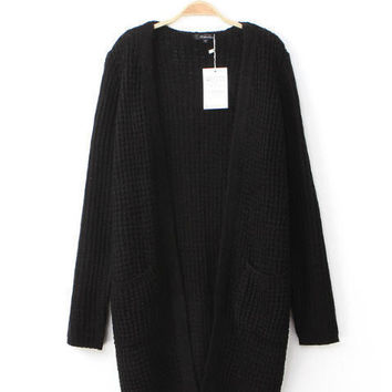 Long Sleeve Knit Sweater Cardigan