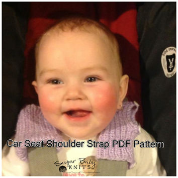 PATTERN Car Seat Shoulder Strap Covers- KNIT