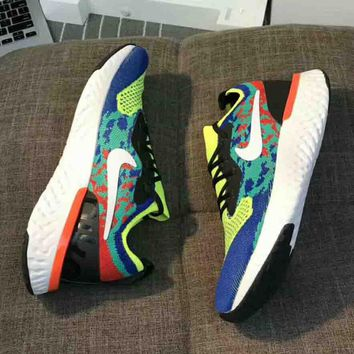 NIKE Epic React Fly knit new fashion net sport running couple shoes Green